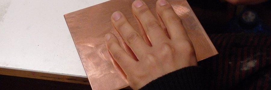 Cómo preparar las planchas de grabado calcográfico