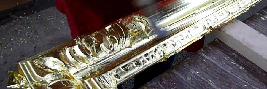 Cómo usar la Piedra de Ágata o Bruñidor para pan de oro