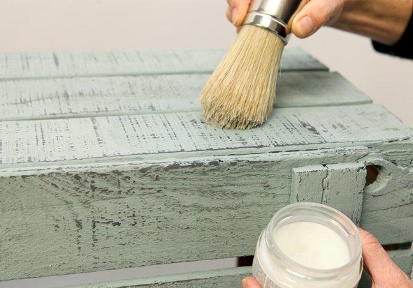 C mo decapar con la t cnica shabby tutoriales arte de - Como decapar un mueble oscuro ...