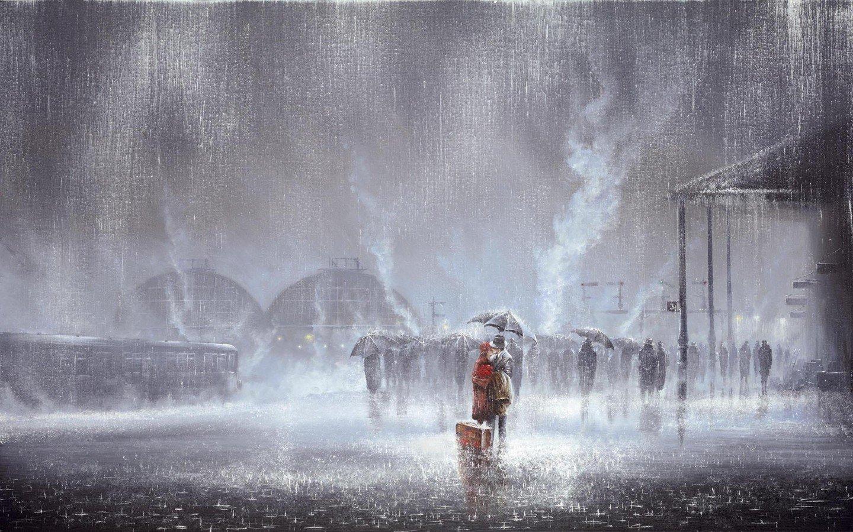Cómo pintar lluvia - Tutoriales arte de Totenart
