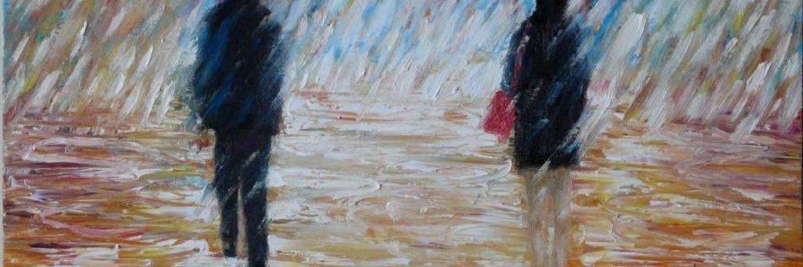 Cómo pintar lluvia