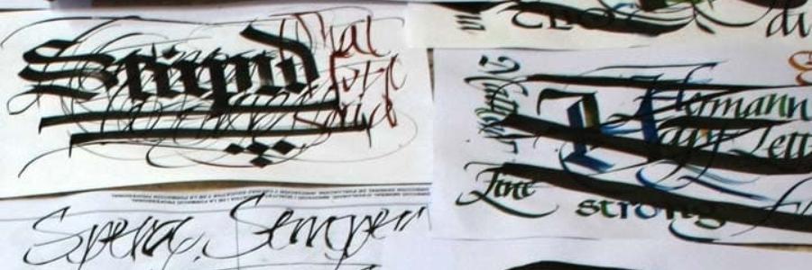 Rotuladores estilo Sakura para caligrafía, tipos