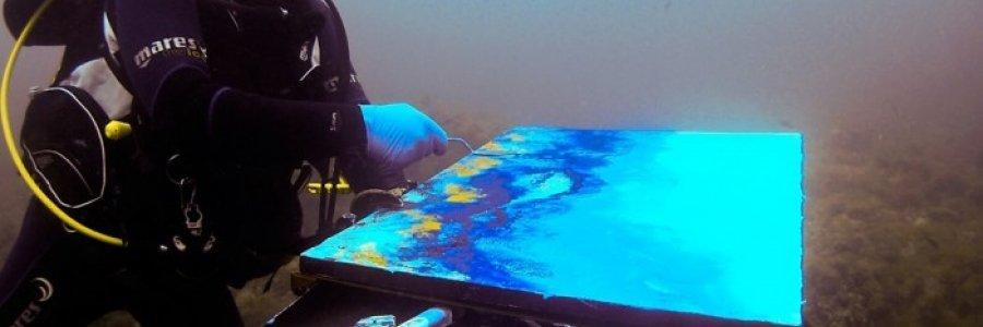 Cómo practicar pintura subacuática