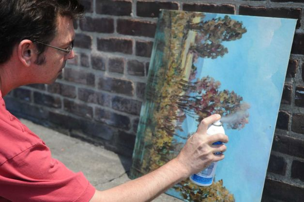 C mo barnizar un cuadro acr licos tutoriales arte de - Barniz para pintura ...
