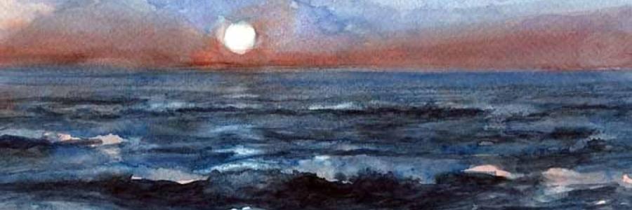 Como pintar paisajes marinos con Acuarelas
