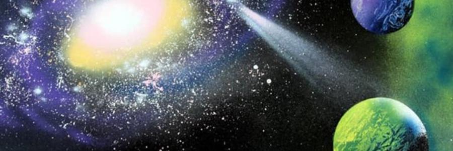 Cómo pintar planetas con spray
