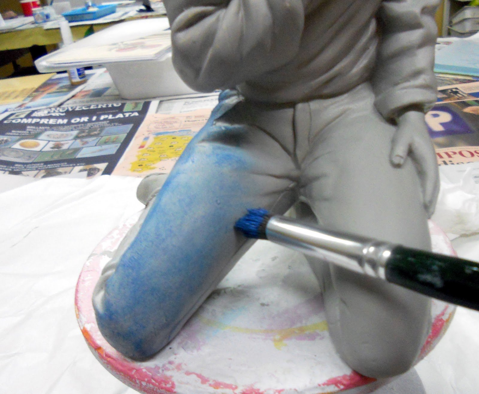 C mo trabajar y qu es el pincel seco tutoriales arte de - Como pintar un radiador ...