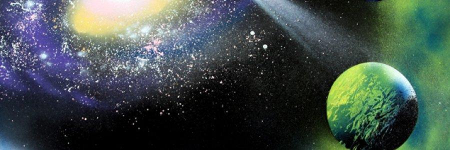 Cómo pintar planetas con spray o cómo crear texturas espaciales