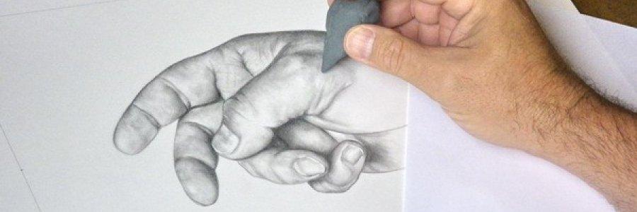 Dibujar con miga de pan