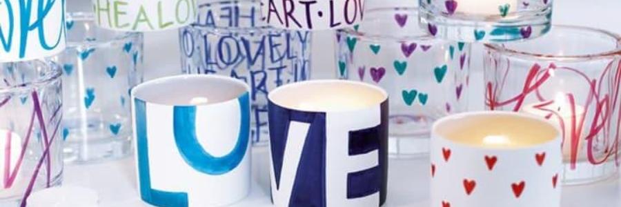 Cómo pintar cerámica y vidrio sin horno