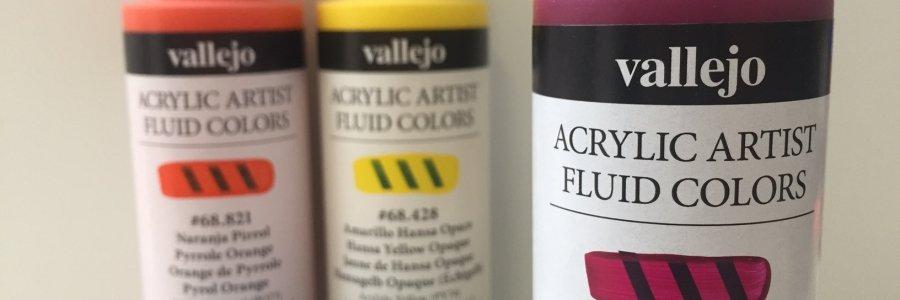 Como trabajar con la pintura acrílica Fluida Vallejo