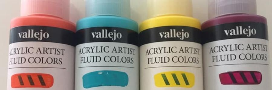 Cómo usar pintura acrílica Fluida Vallejo