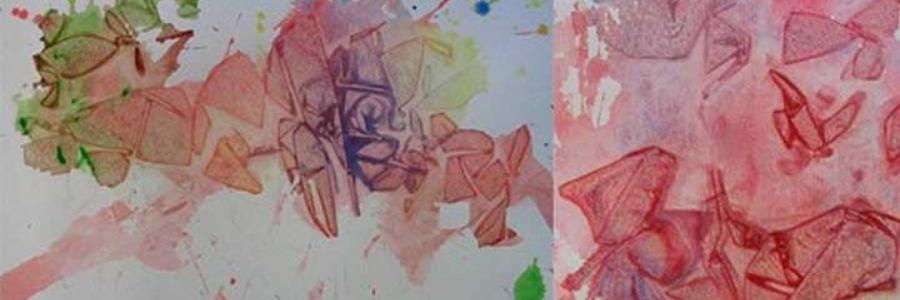 Como pintar texturas con bolsas de plástico