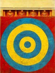 totenart-Target With Four Faces-encáustica