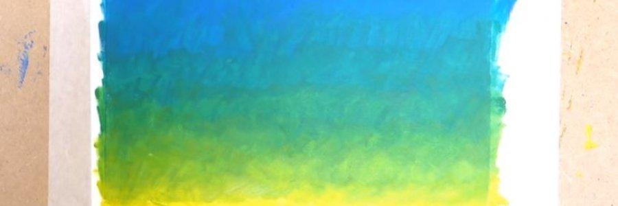 Cómo pintar un degradado con óleo