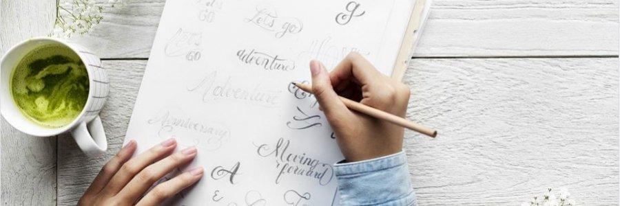 Los 4 productos básicos para caligrafía