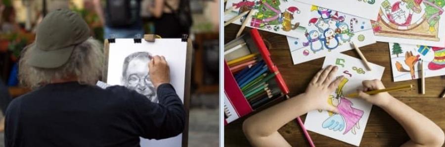 Mesa o atril, qué es mejor para pintar?