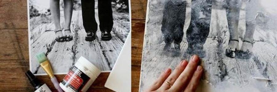 Transferir fotos sobre lienzo con Liquitex